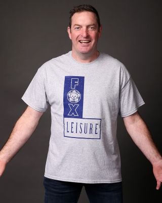 Leicester City Mens Grey Fox Leisure Tee
