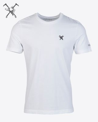 Fox & Crop Mens White T-Shirt