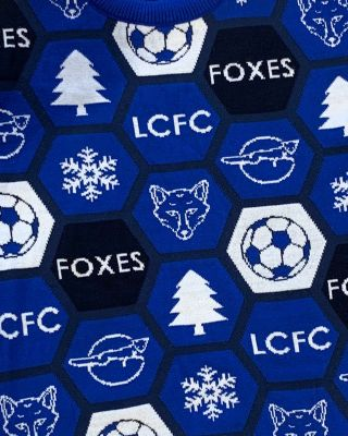 Leicester City Adult Blue Christmas Jumper