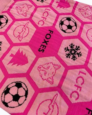 Leicester City Kids Pink Christmas Jumper