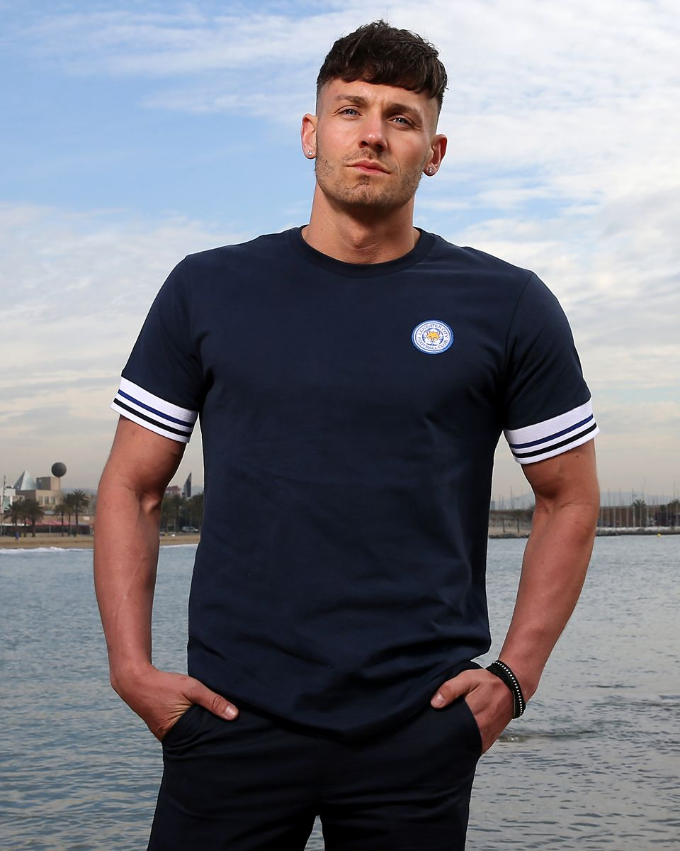 Leicester City Mens Navy Terrace Tee