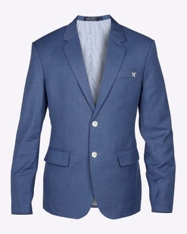 Fox & Crop Mens Blazer Blue
