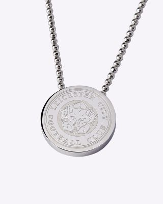 LCFC Silver Plated Crest Pendant