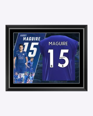 LCFC Harry Maguire Framed Signed Shirt