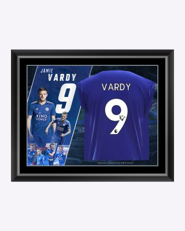 LCFC Jamie Vardy Framed Signed Shirt