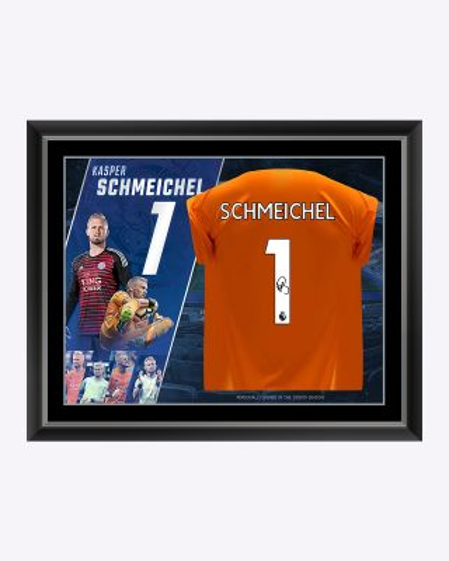 LCFC Kasper Schmeichel Framed Signed Shirt