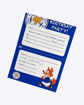LCFC Party Invites - Pack Of 12