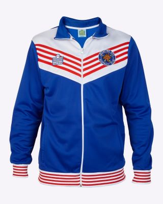 LCFC Retro Track Jacket 76/79 Blue/White/Red