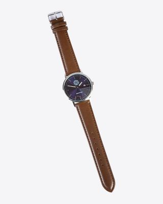 LCFC Brown Leather Strap Watch