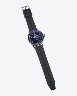 LCFC Black Rubber Strap Watch