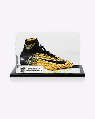 Official England Vardy Signed Boot