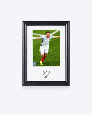 Official England Vardy Signed Photo - V Wales