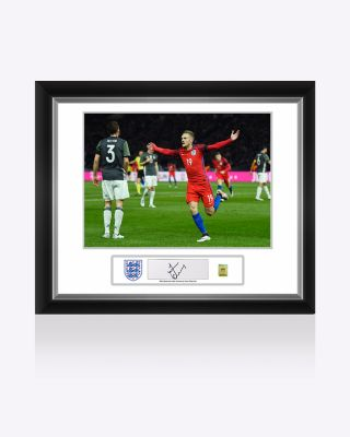 Official England Vardy Signed Photo