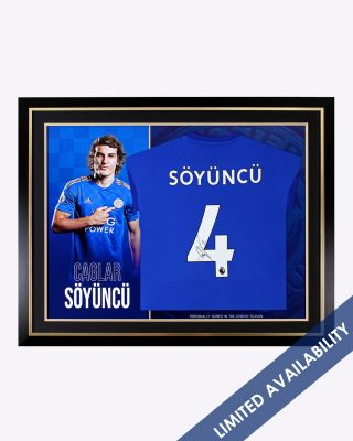 Leicester City 2019/20 Çaglar Söyüncü Framed Signed Shirt