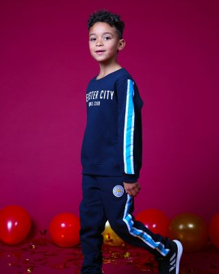 Leicester City Kids Navy Tracksuit Bottoms