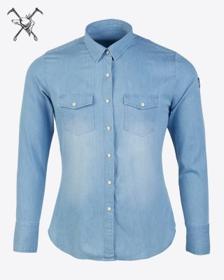 Fox & Crop Womens Denim Shirt
