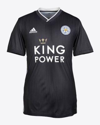 2019/20 adidas Leicester City Junior Grey Away Shirt -Carabao