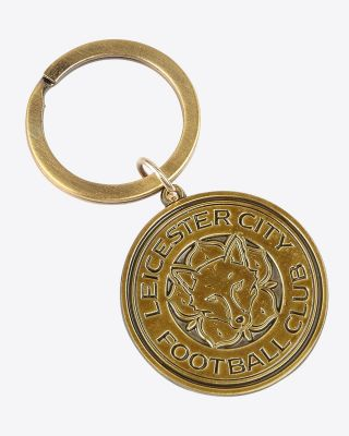 Leicester City Antique Crest Keyring
