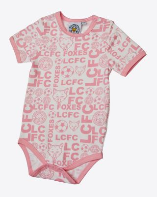 Leicester City All Over Print Pink Vest