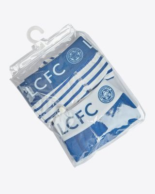 Leicester City Boys Twin Pack Boxers