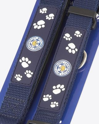 Leicester City Dog Lead & Collar