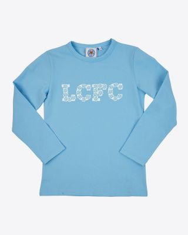 Leicester City Girls L/S Flower T-Shirt