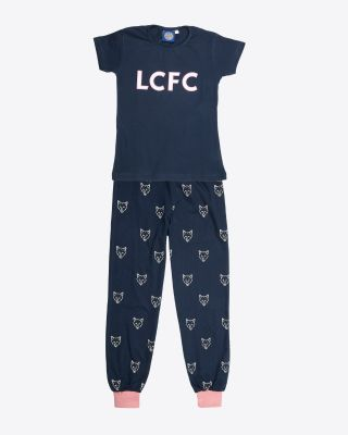 Leicester City Navy Girls Pyjamas