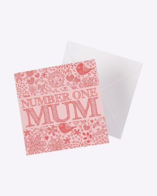 Leicester City Greetings Card - No.1 Mum