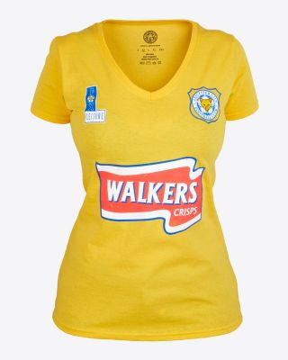 Leicester City Womens Yellow Walkers T-Shirt