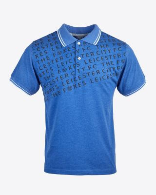 Leicester City Mens Blue Terrace Polo