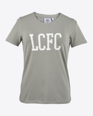 Leicester City Womens White Print T-Shirt