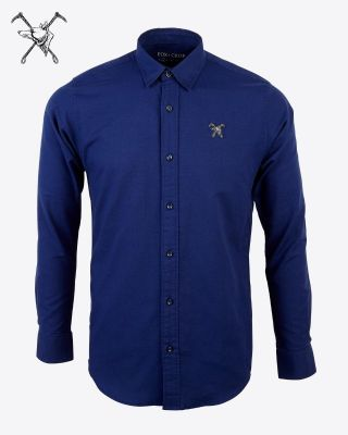 Fox & Crop Mens Navy Shirt