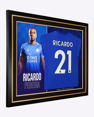Leicester City 2019/20 Ricardo Framed Signed Shirt