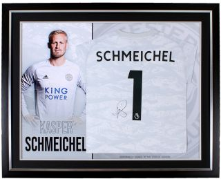 Leicester City 2019/20 Kasper Schmeichel Framed Signed Shirt