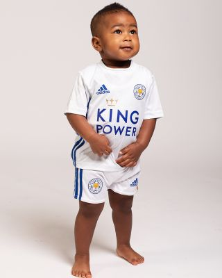 Leicester City White Away Shirt 2020/21 - Mini Kit
