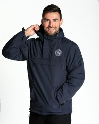 Leicester City Mens Navy Overhead Jacket
