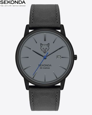 Leicester City Mens Black Fox Head Watch