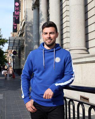 Leicester City Mens Blue Oadby Hoody