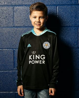Leicester City King Power Goalkeeper Shirt Black 2020/21 - Kids