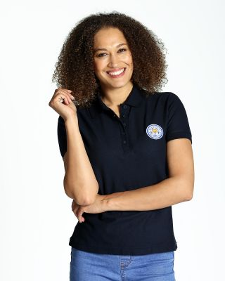 Leicester City Womens Navy Crest Polo