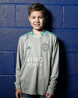Leicester City King Power Goalkeeper Shirt Grey 2020/21 - Kids