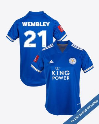 Leicester City Home Shirt 2020/21 - Womens WEMBLEY 21