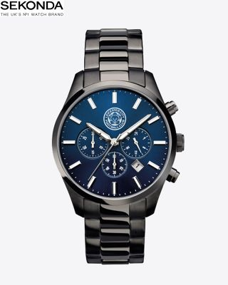 Leicester City Mens Navy Face Watch