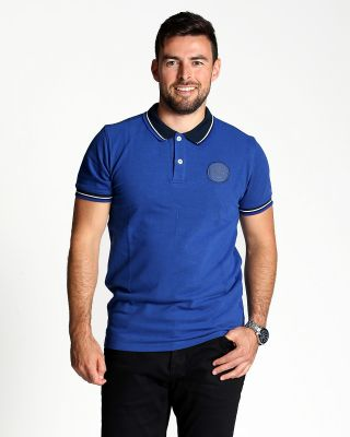 Leicester City Mens Blue Barwell Polo
