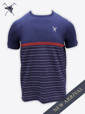 Fox & Crop - Mens Navy T-Shirt