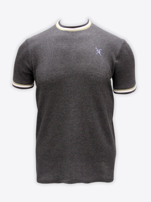 Fox & Crop - Mens Grey Waffle T-Shirt