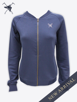Fox & Crop - Womens Navy Bomber