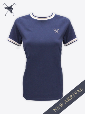 Fox & Crop -  Womens Navy T-Shirt