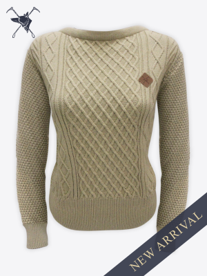 Fox & Crop - Womens Sand Cable Knit