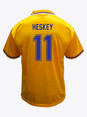 Leicester City Retro Shirt 1994/96 Away - HESKEY 11